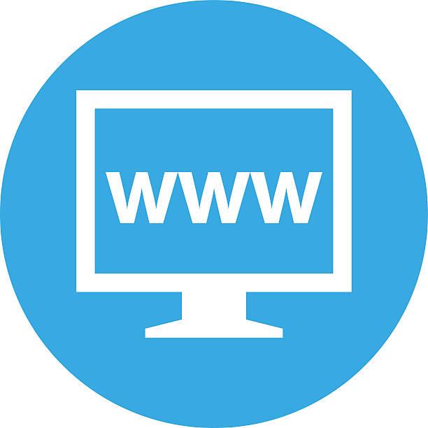 illustrations, cliparts, dessins animés et icônes de écran d'ordinateur icône ronde sur un bouton. roundseries - www