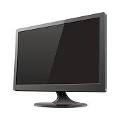 Computer monitor mockup vector illustration