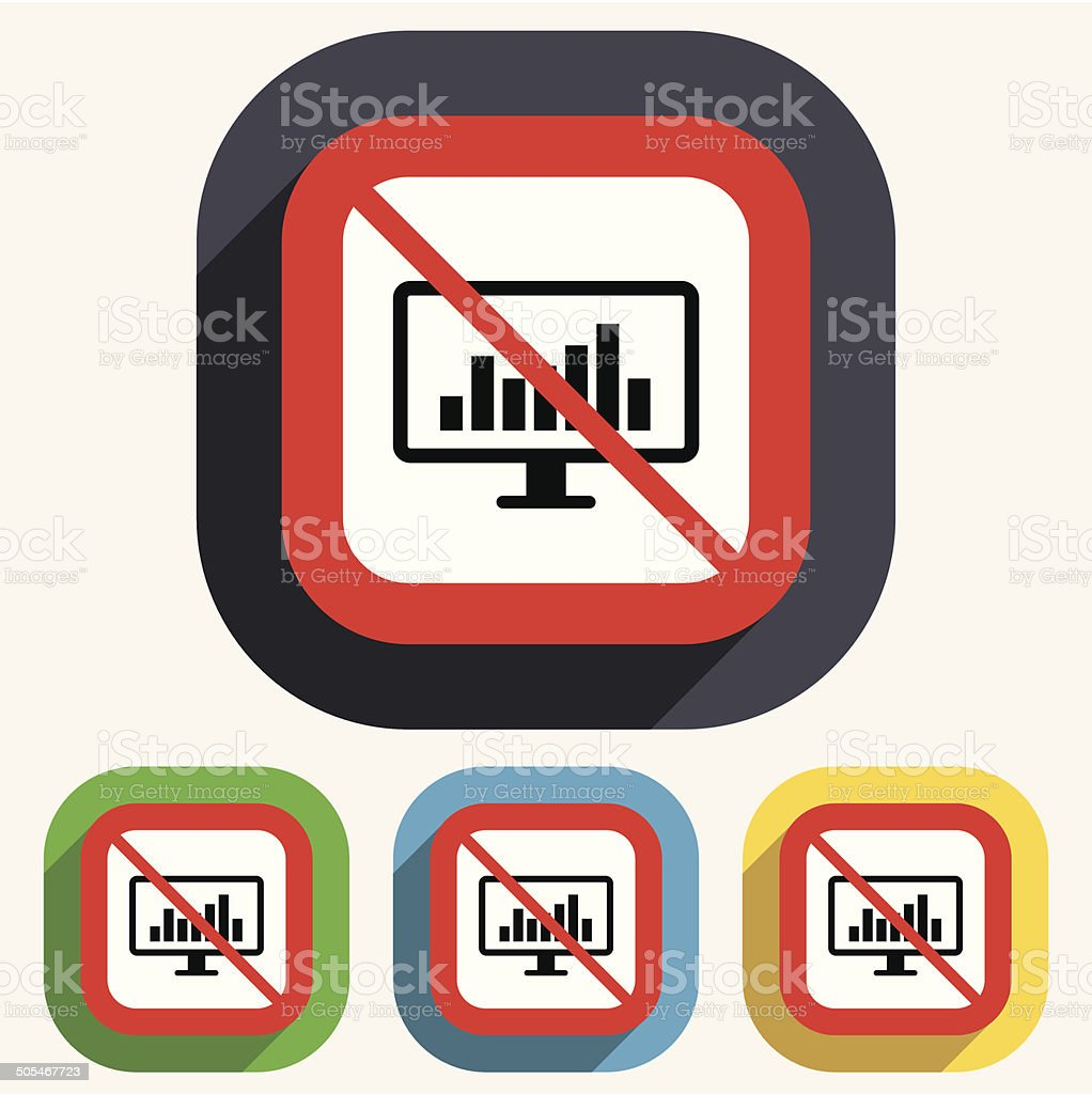 Computer monitor sign icon. Market monitoring. royalty-free computer monitor sign icon market monitoring stock vector art & more images of badge