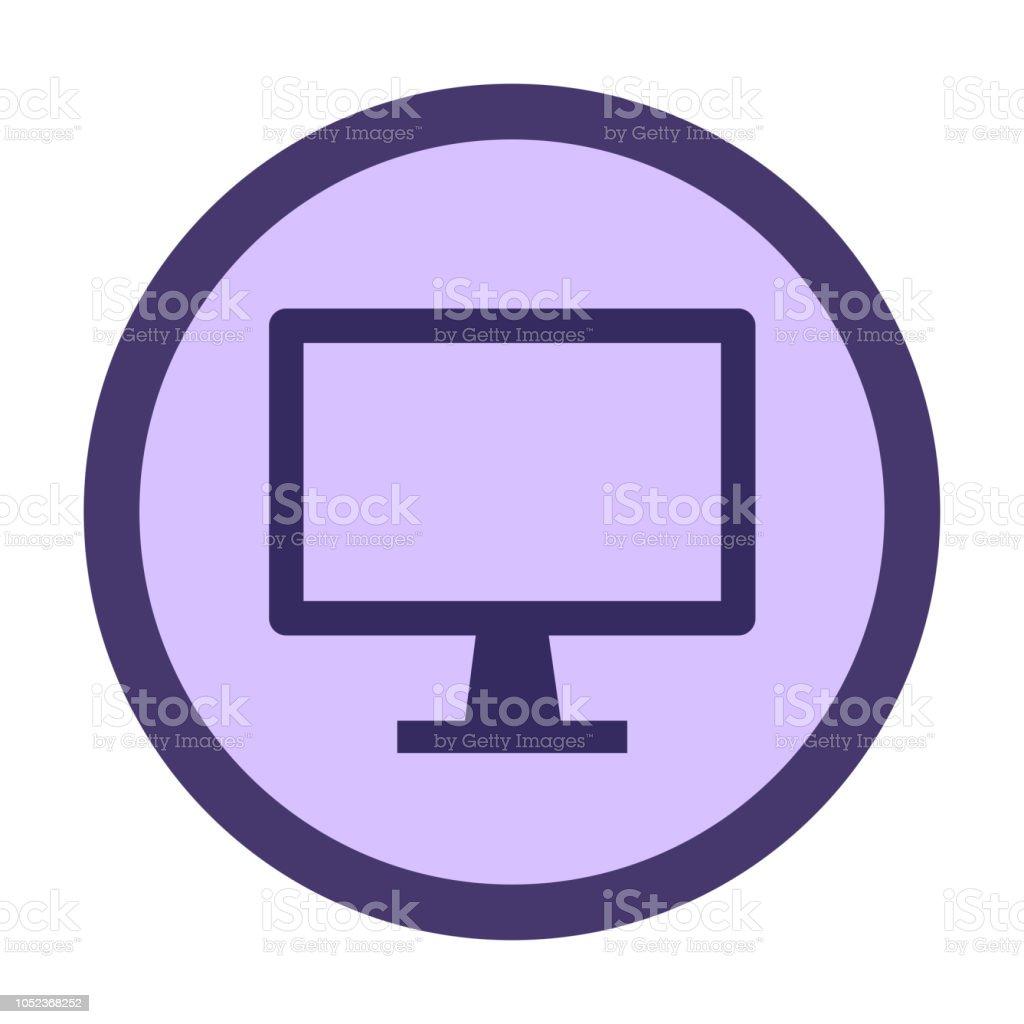 computer monitor vector art illustration