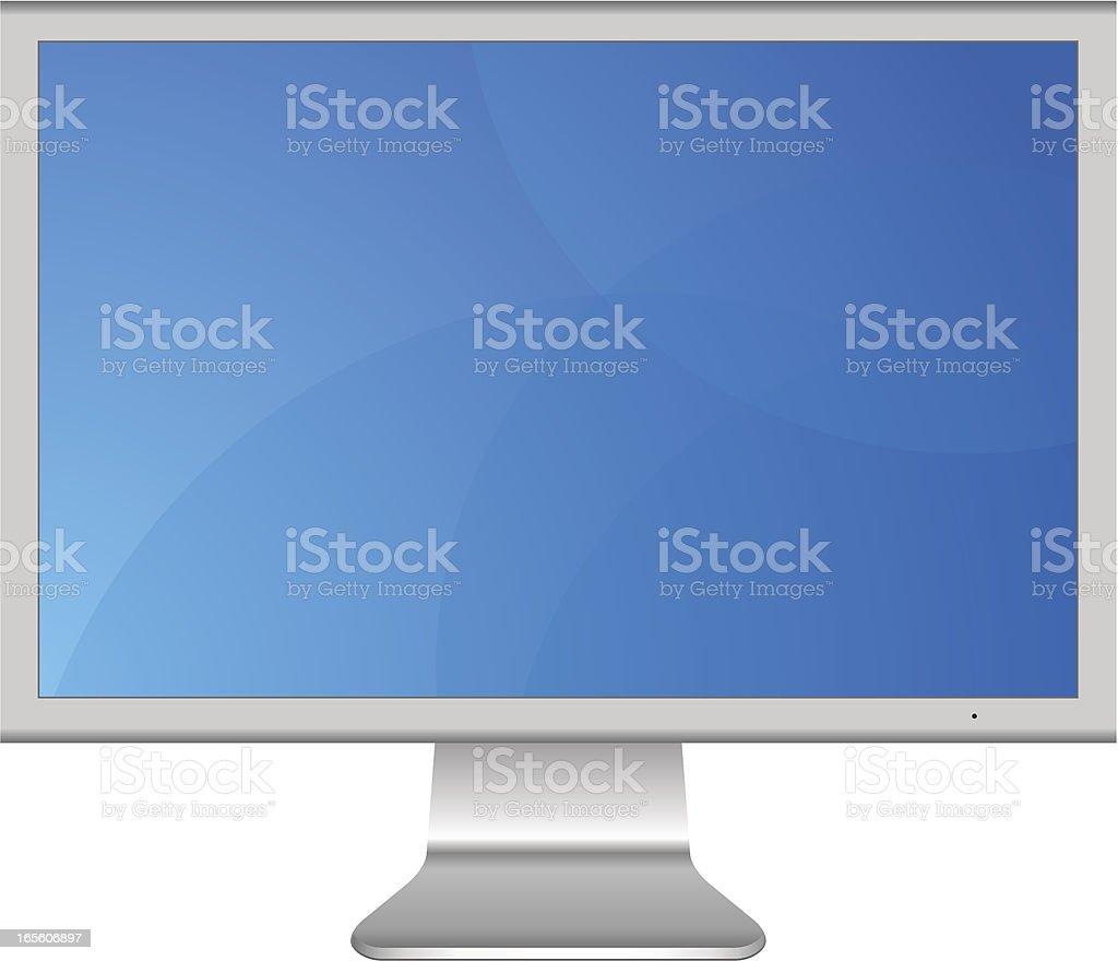 LCD Computer Monitor vector art illustration