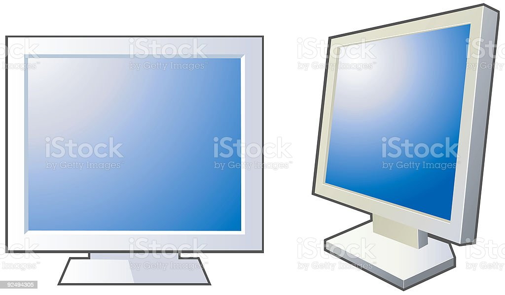 Computer Monitors vector icons royalty-free computer monitors vector icons stock vector art & more images of blue
