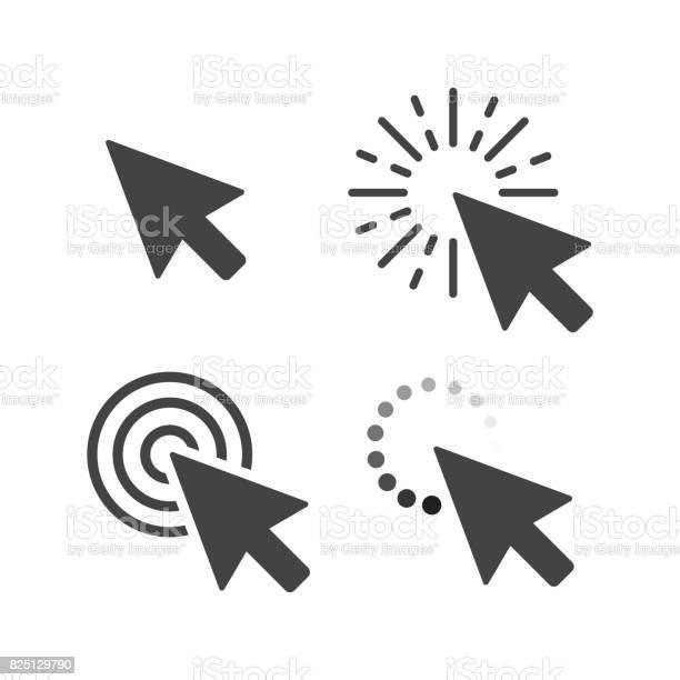 Computer mouse click cursor gray arrow icons set vector illustration vector id825129790?b=1&k=6&m=825129790&s=612x612&h=6fgjti2qnpxbqyu2j5uuzrodwfuqvakq1su7wo7bdgs=