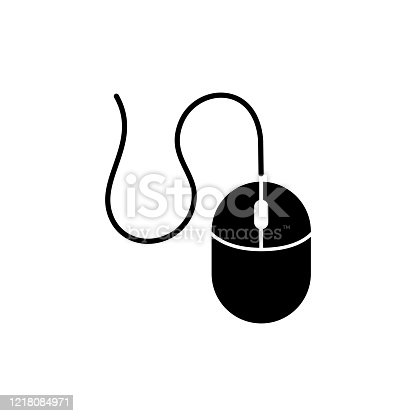 istock Computer mouse icon design black symbol isolated on white background. Vector EPS 10. 1218084971
