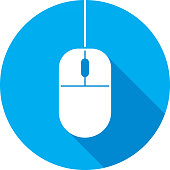 Computer Mouse Icon Silhouette