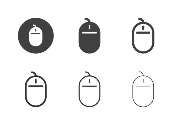 Computer Mouse Icons - Multi Series vector art illustration