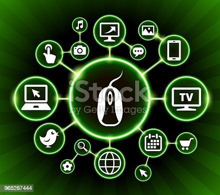 Computer Mouse Internet Communication Technology Dark Buttons Background Stock Vector Art & More Images of Backgrounds 965267444