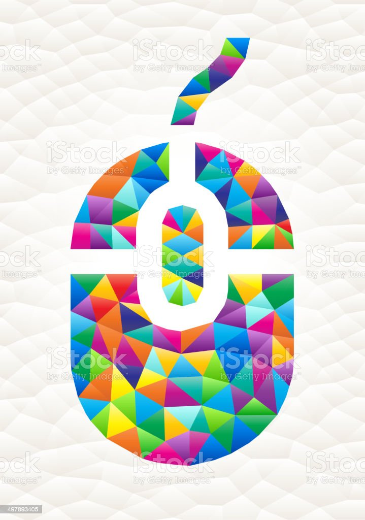 Computer Mouse on triangular pattern mosaic royalty free vector art royalty-free stock vector art