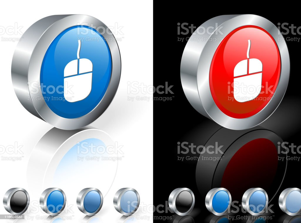 Computer mouse round 3D royalty free vector art royalty-free stock vector art