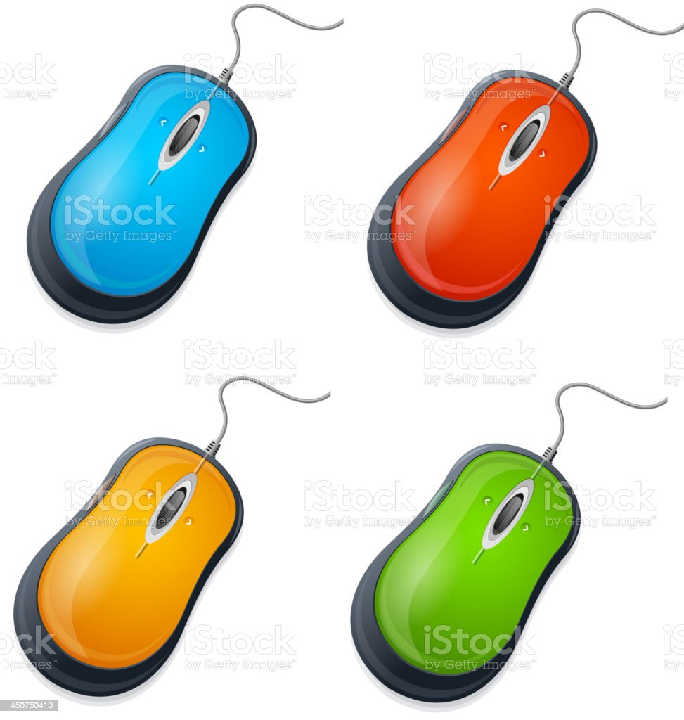 Computer mouse set royalty-free computer mouse set stock vector art & more images of blue
