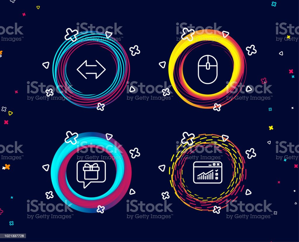 Computer Mouse Sync And Wish List Icons Web Traffic Sign Pc