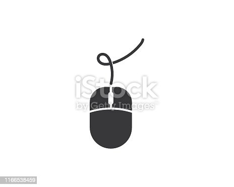 Computer mouse vector template