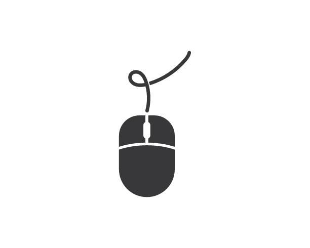 stockillustraties, clipart, cartoons en iconen met computer muis logo vector - computermuis