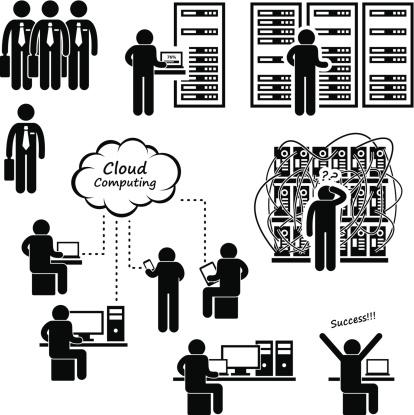 Computer Network Server Data Center Pictogram