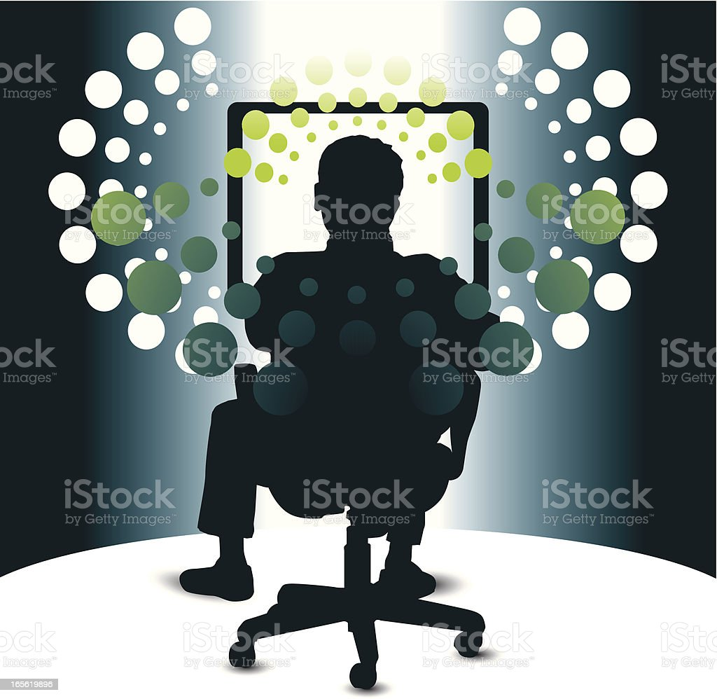 computer operator royalty-free stock vector art