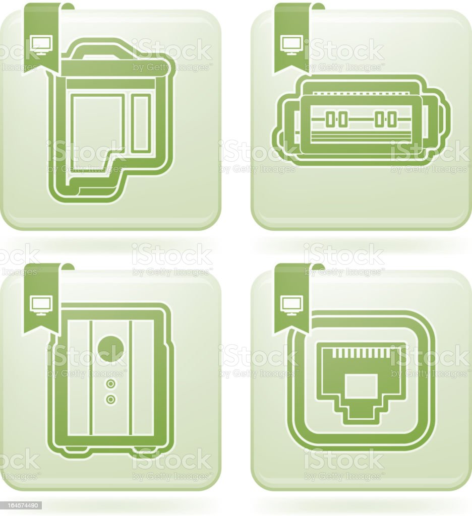 Computer Parts royalty-free stock vector art