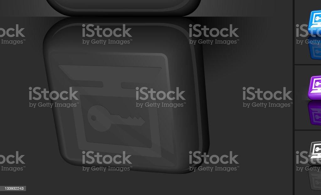 computer password key 3D button design royalty-free stock vector art