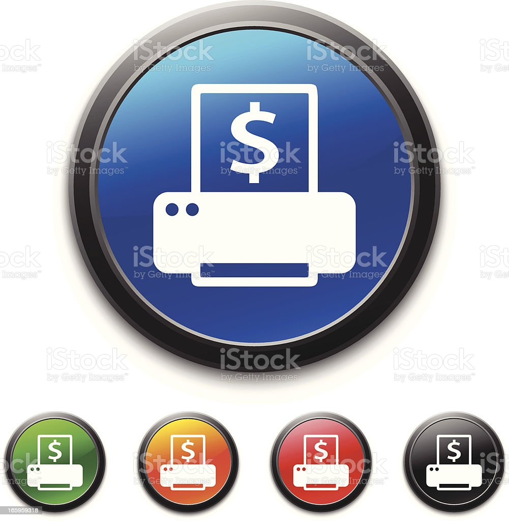 Computer Printer icon royalty-free computer printer icon stock vector art & more images of black color