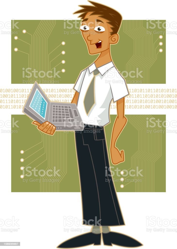 Computer Programmer royalty-free stock vector art