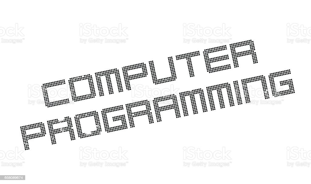 Computer Programming Rubber Stamp Royalty Free Stock Vector Art Amp