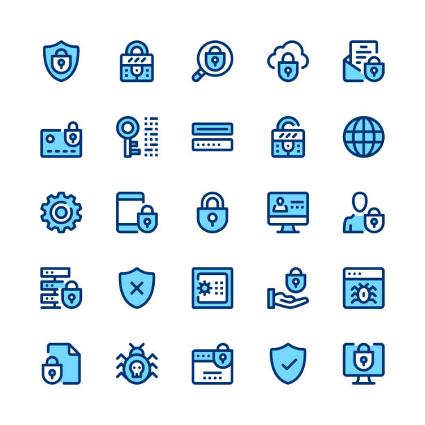 Computer protection, internet security, privacy line icons set. Modern graphic design concepts, simple symbols, linear stroke web elements, pictograms collection. Minimal thin line design. Premium quality. Pixel perfect. Vector outline icons Computer protection, internet security, privacy line icons set. Modern graphic design concepts, simple symbols, linear stroke web elements, pictograms collection. Minimal thin line design. Premium quality. Pixel perfect. Vector outline icons antivirus software stock illustrations
