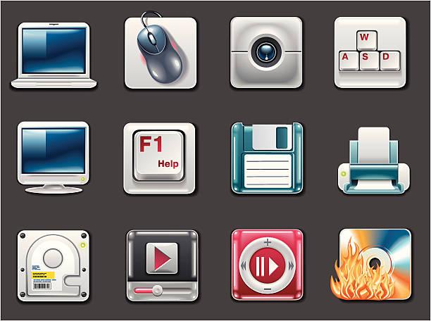 computer symbole - mauspad stock-grafiken, -clipart, -cartoons und -symbole