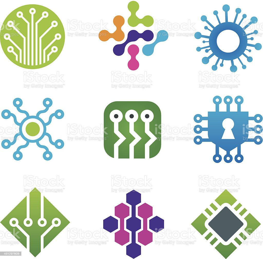 Computer science technology royalty-free stock vector art