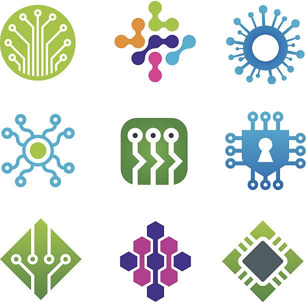 La tecnología informática - ilustración de arte vectorial