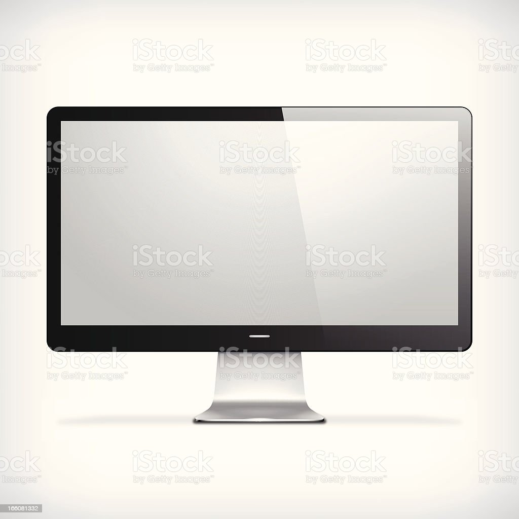 Computer Screen royalty-free computer screen stock vector art & more images of aluminum