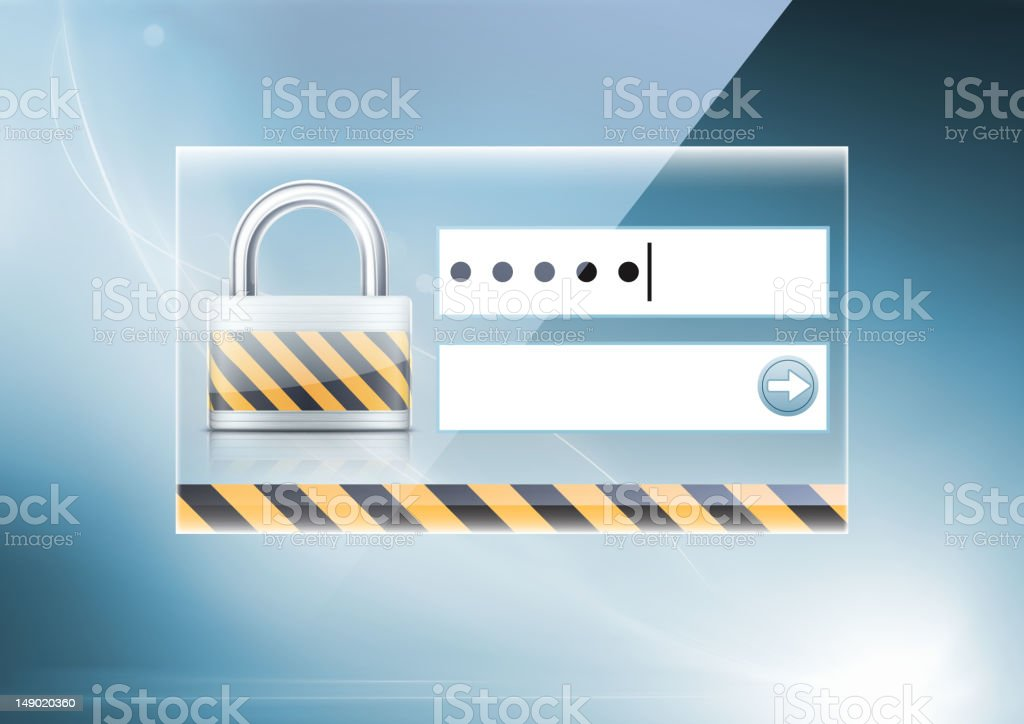 computer security concept royalty-free stock vector art