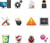 Computer Security Icon Set | Elegant Series