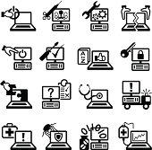 Computer Service and Repair Symbols
