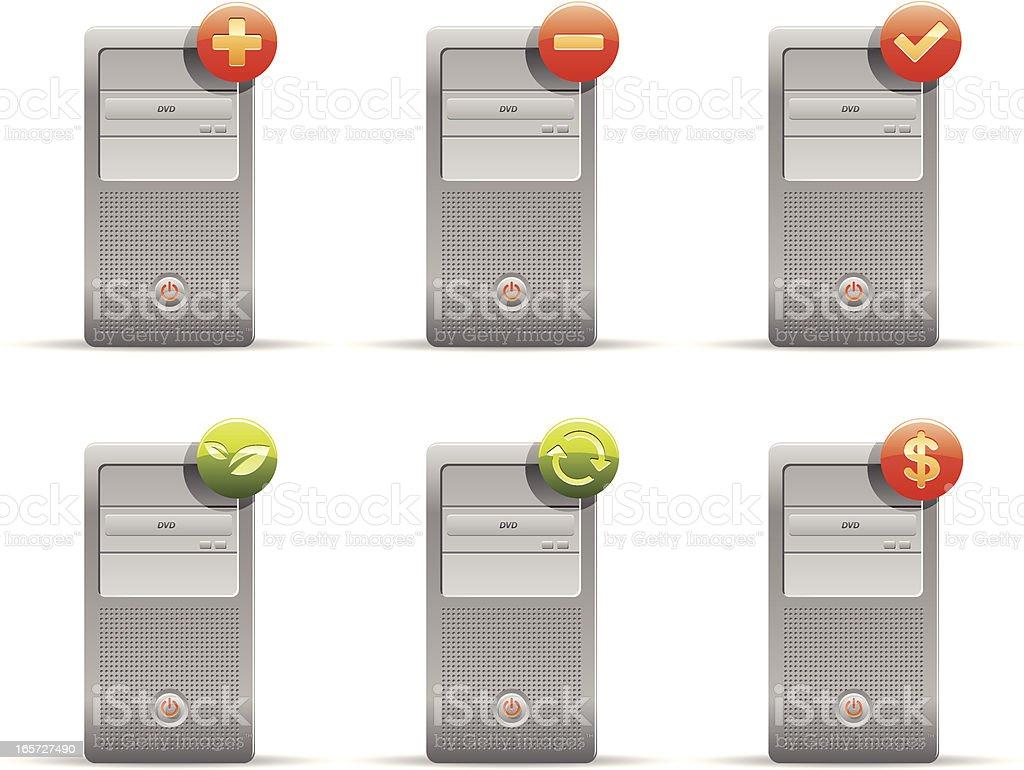 Computer shopping icon set