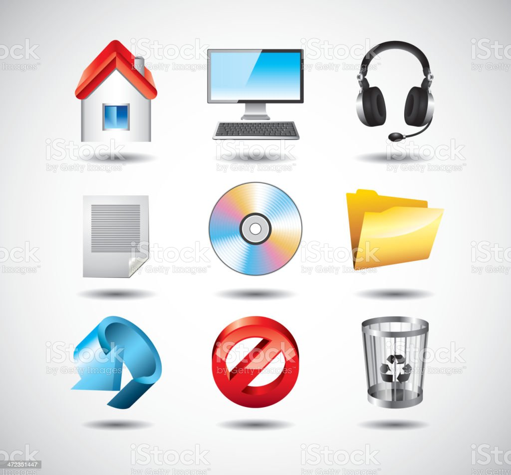 computer system icons set royalty-free stock vector art