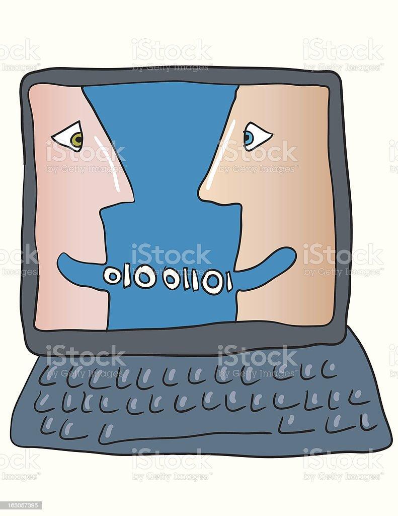 Computer talk vector art illustration