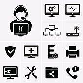 Computer technician icons