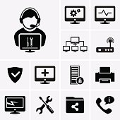 Computer technician icons