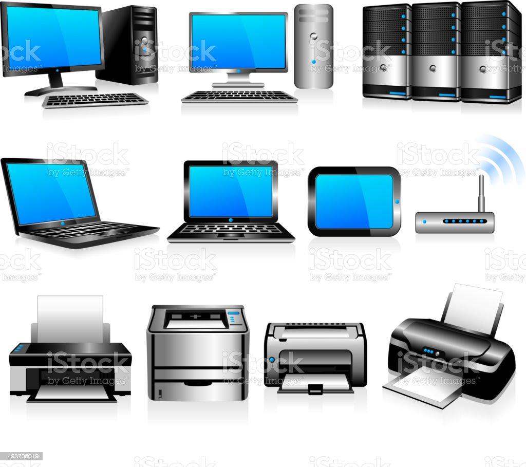 Computer Technology Electronics vector art illustration