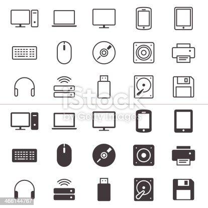 Simple vector icons. Clear and sharp. Easy to resize. No transparency effect.