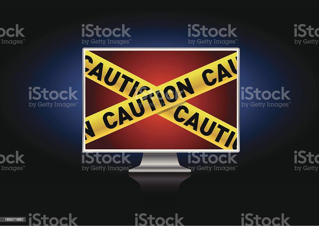 Computer threats vector art illustration