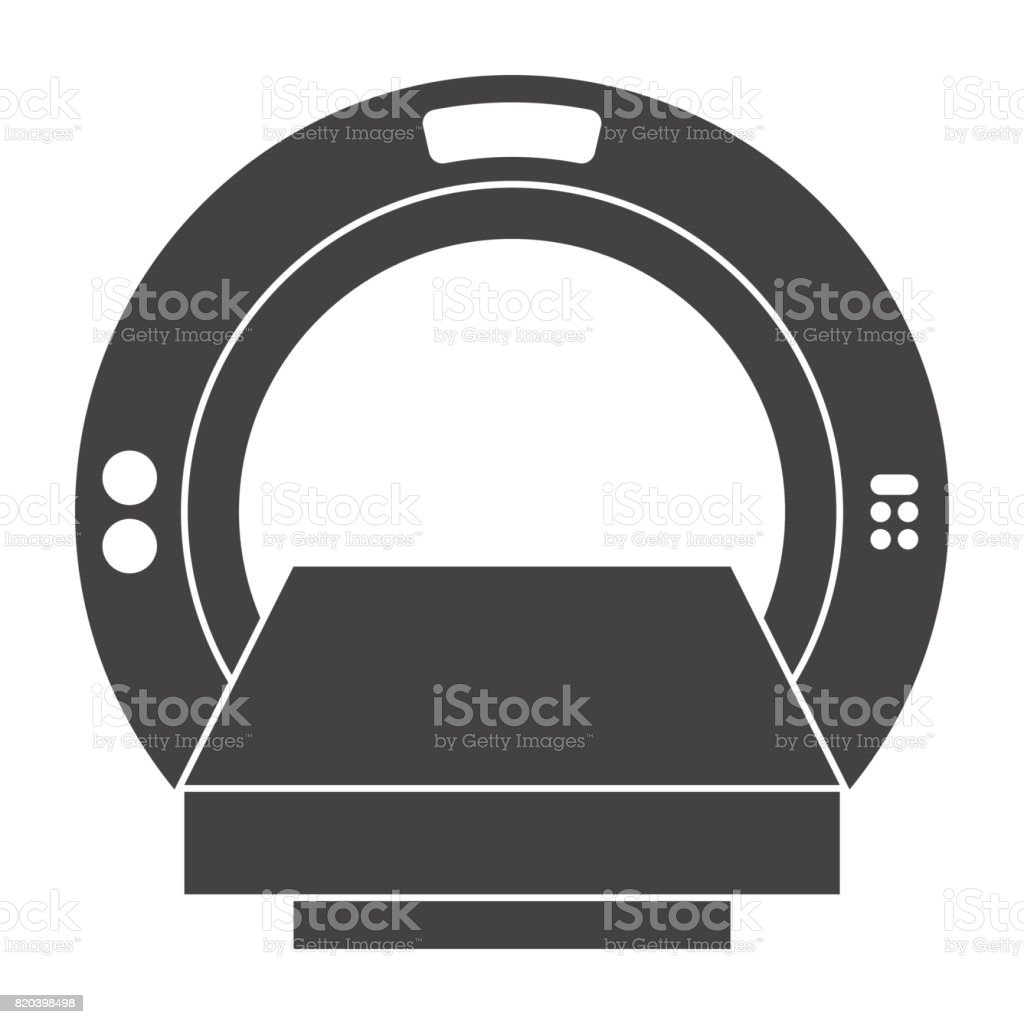Computer Tomography Icon vector art illustration