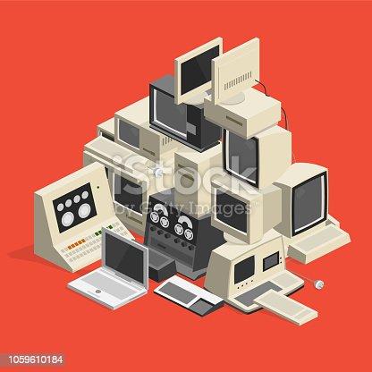 computer trash - isometric