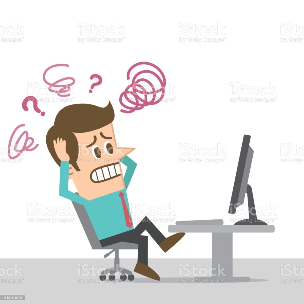 Computer Trouble: Computer Trouble Stock Illustration