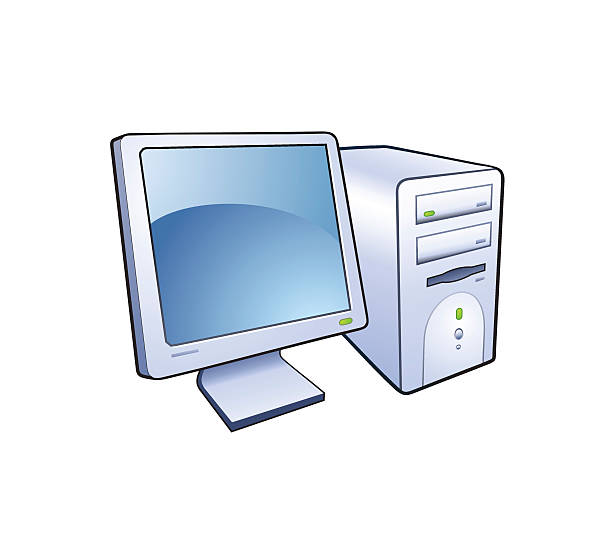 Computer vector icon vector art illustration