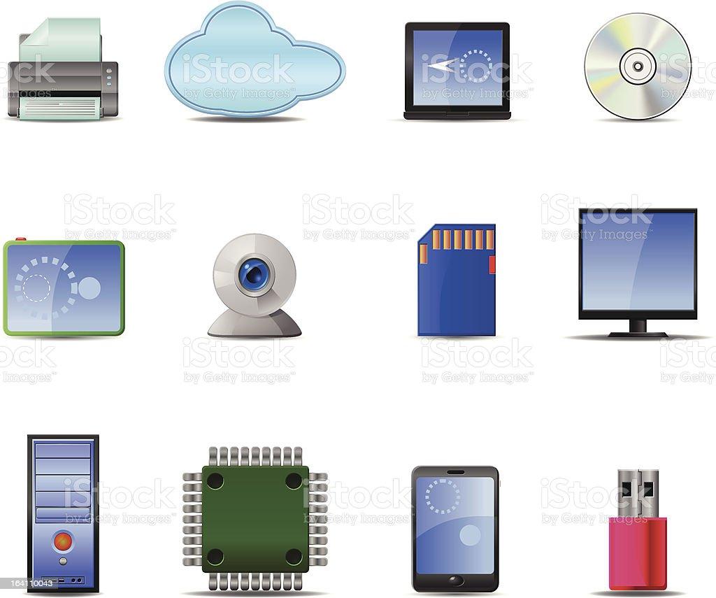 Computer Vector Icons royalty-free stock vector art