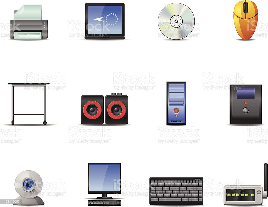 Computer vector Icons royalty-free computer vector icons stock vector art & more images of black color