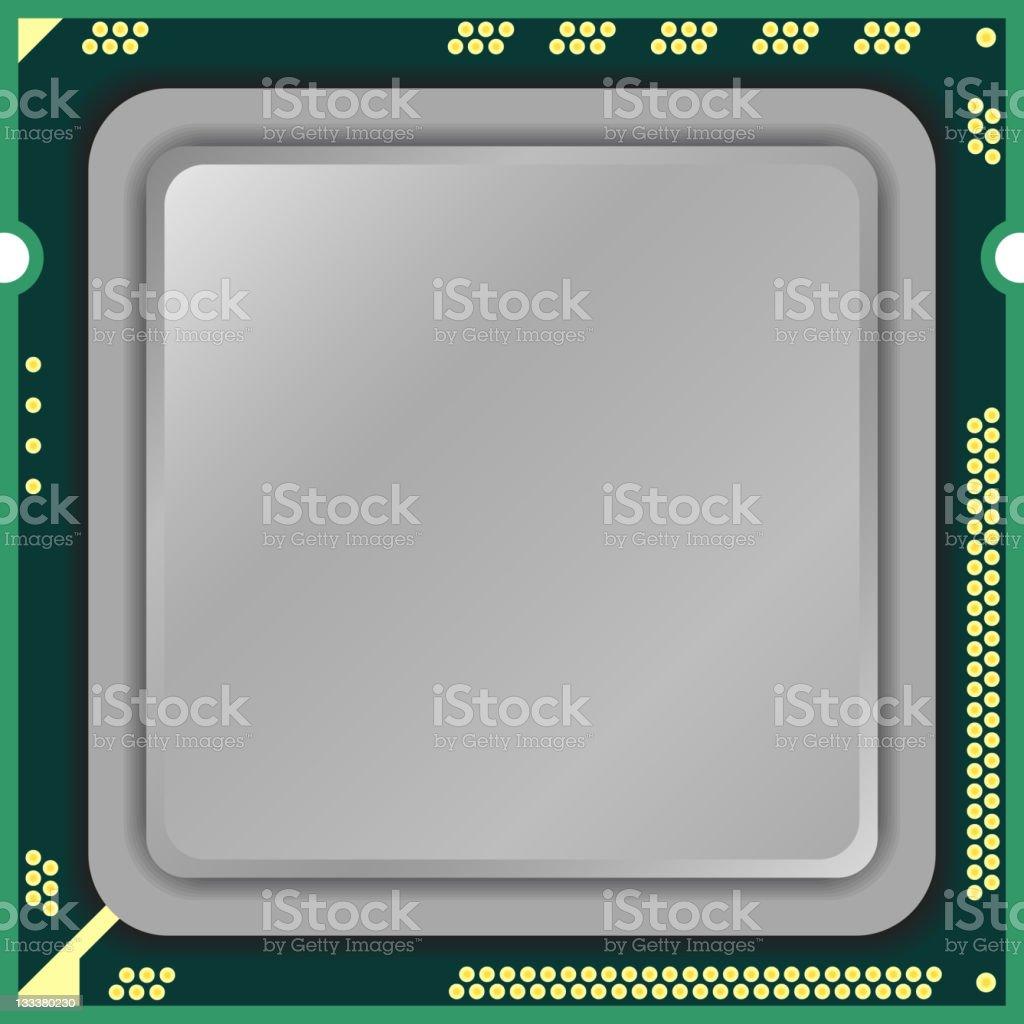 CPU computer vector art illustration