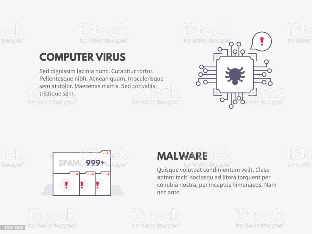 Computer Virus And Malware Cyber Security Concept Stock