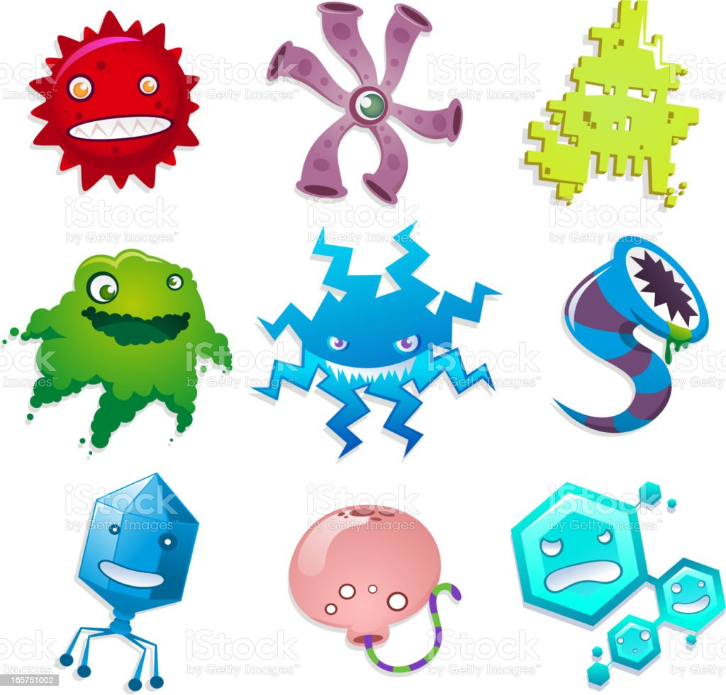 Computer virus infection destroyer poison pest collection royalty-free stock vector art