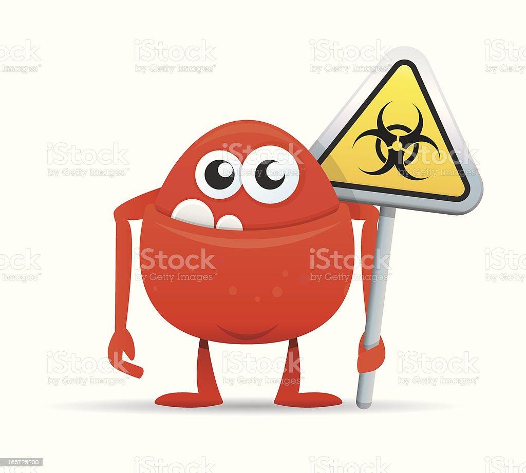 Computer Virus Monster vector art illustration